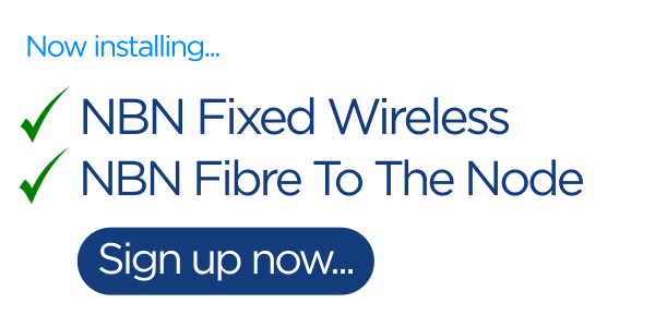 NBN fixed wireless and fibre to the node